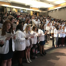 Nursing students at the IHS White Coat ceremony